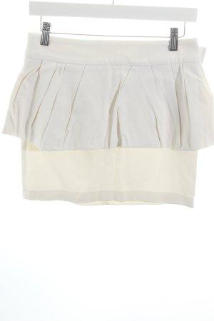 Zara Woman Minirock weiß Lagen-Look