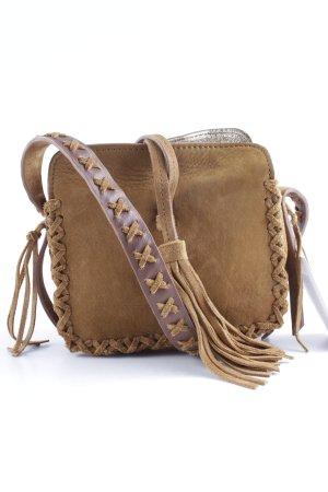 Zara Woman Mini Bag camel ethnic pattern beach look