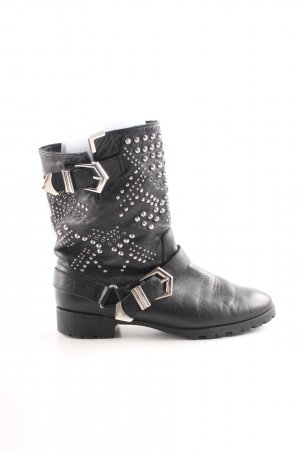 Zara Woman Biker Boots black casual look