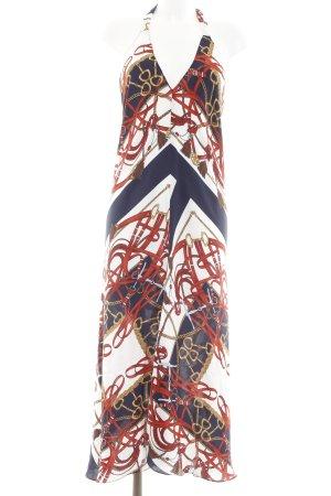 Zara Woman Neckholderkleid abstrakter Druck extravaganter Stil