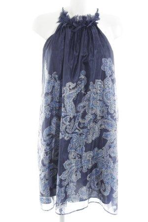 Zara Woman Neckholderkleid florales Muster Bleached-Optik