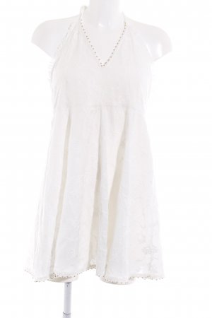 Zara Woman Neckholderkleid weiß florales Muster Romantik-Look