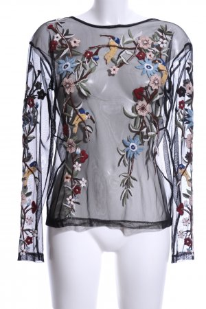 Zara Woman Mesh Shirt flower pattern elegant