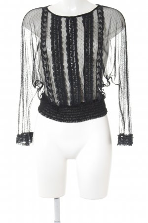 Zara Woman Mesh Shirt black casual look