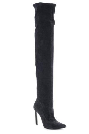 Zara Woman Overknees schwarz Casual-Look