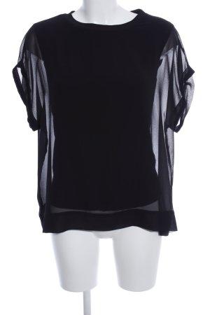Zara Woman Oversized Bluse schwarz Business-Look
