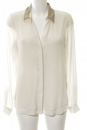 Zara Woman Oversized Bluse wollweiß Business-Look