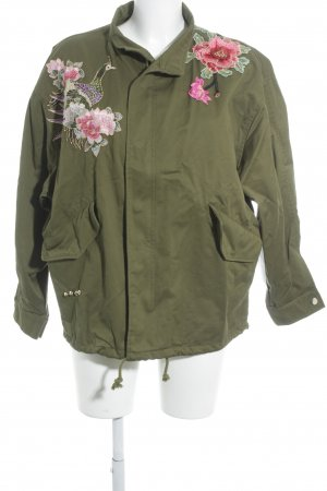 Zara Woman Oversized Jacket olive green street-fashion look