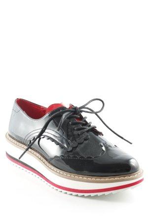 Zara Woman Chaussure Oxford noir style d'affaires