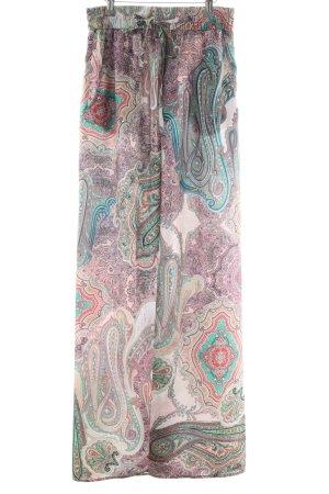 Zara Woman Pantalón palazzo estampado con diseño abstracto look casual