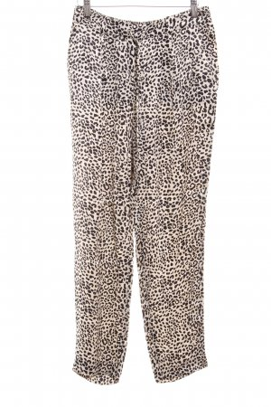 Zara Woman Palazzo Pants black-oatmeal leopard pattern animal print