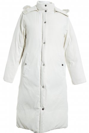Zara Woman Parka blanc cassé motif de courtepointe style décontracté