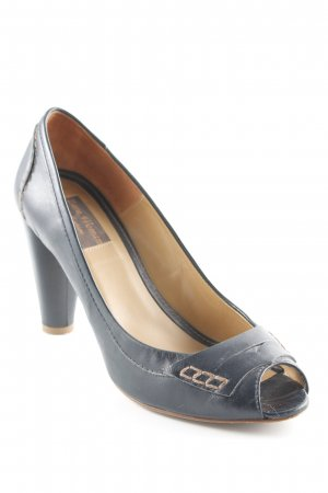 Zara Woman Peeptoe Pumps schwarzbraun Elegant