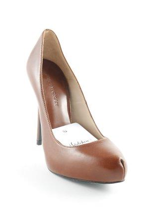 Zara Woman Platform Pumps brown classic style