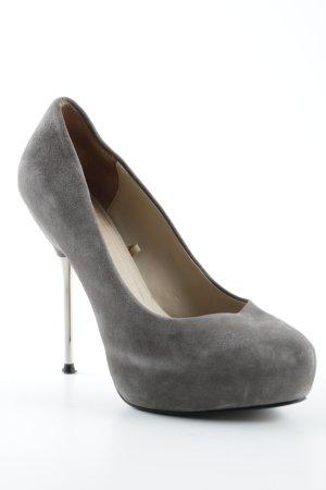 Zara Woman Plateau-Pumps grau Elegant