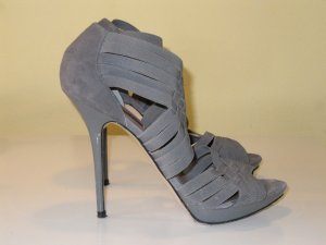 Zara High-Heeled Sandals grey