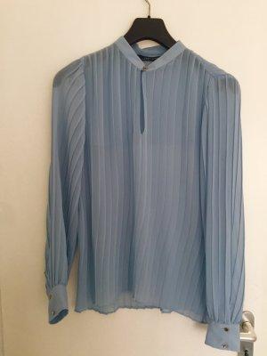 Zara Woman Plise Bluse Gr.M grau-blau