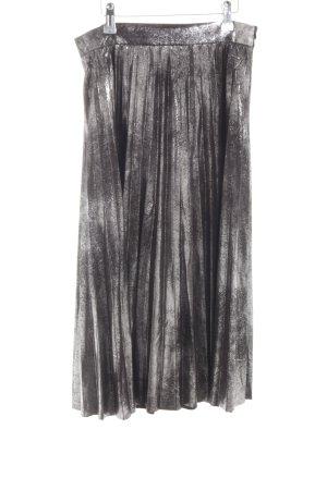 Zara Woman Plisseerock hellgrau-silberfarben meliert Elegant