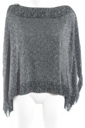 Zara Woman Poncho color plata look casual
