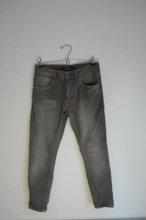 Zara Woman Premium Denimwear Jeans Hose XS S 34 grau Fashion Blogger