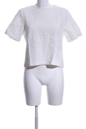 Zara Woman Print-Shirt weiß Mustermix Business-Look