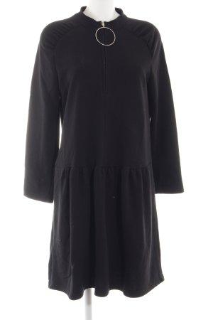 Zara Woman Pulloverkleid schwarz Casual-Look