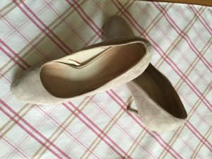 Zara woman Pumps grau taupe Gr. 37 Wildleder Optik