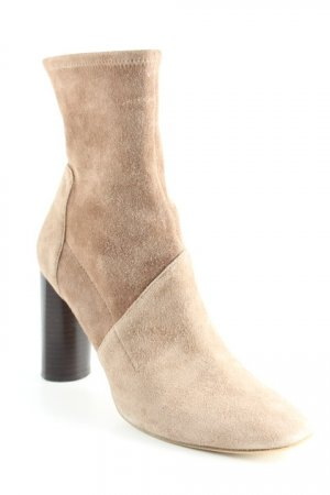 Zara Woman Reißverschluss-Stiefeletten hellbraun Elegant