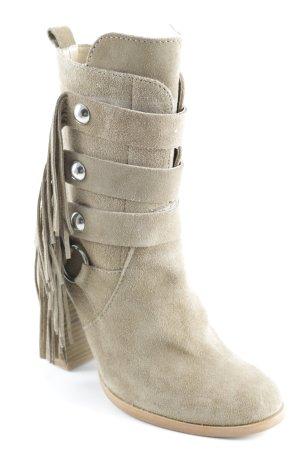 Zara Woman Reißverschluss-Stiefeletten sandbraun Gypsy-Look