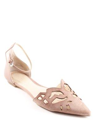 Zara Woman Sandalo con cinturino rosa antico stile urbano