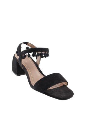 Zara Woman Riemchen-Sandalen schwarz Business-Look