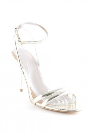 Zara Woman Riemchenpumps goldfarben Party-Look