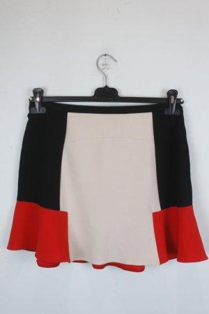 Zara Woman Rock Gr. L schwarz, rot, nude Muster (18/5/305)