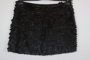 Zara Woman Rock Minirock Gr. S schwarz Lederoptik (18/3/052)