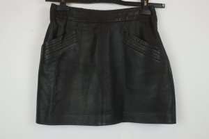 Zara Woman Rock Minirock Lederrock Gr. S schwarz