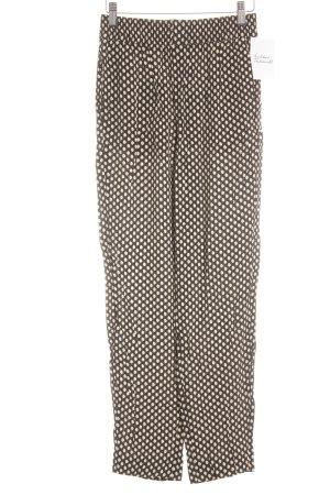 Zara Woman Röhrenhose olivgrün-dunkelblau abstraktes Muster Business-Look