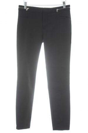 Zara Woman Drainpipe Trousers black-silver-colored elegant