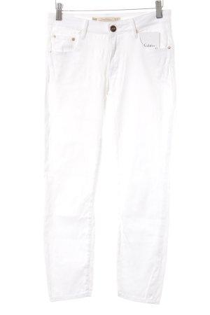 Zara Woman Röhrenhose weiß
