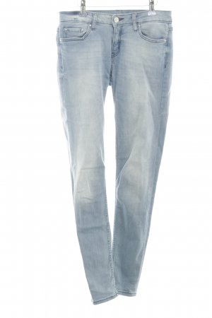 Zara Woman Tube jeans neon blauw casual uitstraling