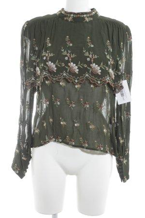 Zara Woman Rüschen-Bluse florales Muster Romantik-Look