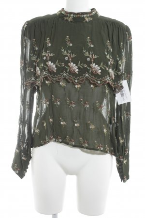 Zara Woman Ruffled Blouse floral pattern romantic style