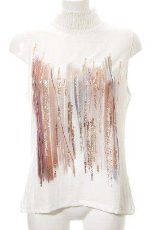 Zara Woman Frill Top striped pattern casual look