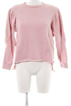 Zara Woman Rundhalspullover pink Casual-Look