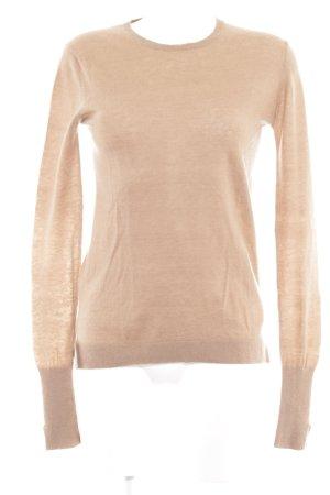Zara Woman Rundhalspullover hellbraun minimalistischer Stil