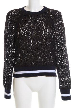 Zara Woman Rundhalspullover mehrfarbig Casual-Look