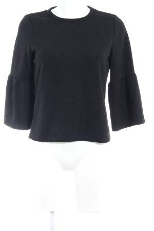 Zara Woman Rundhalspullover schwarz schlichter Stil