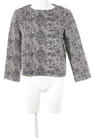 Zara Woman Rundhalspullover schwarz-weiß Mustermix Casual-Look