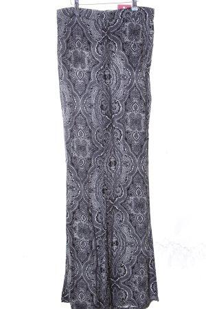 Zara Woman Pantalón de campana gris claro estampado con diseño abstracto