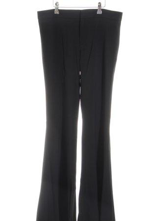 Zara Woman Broek met wijd uitlopende pijpen zwart zakelijke stijl