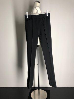 Zara Woman Broek met wijd uitlopende pijpen zwart